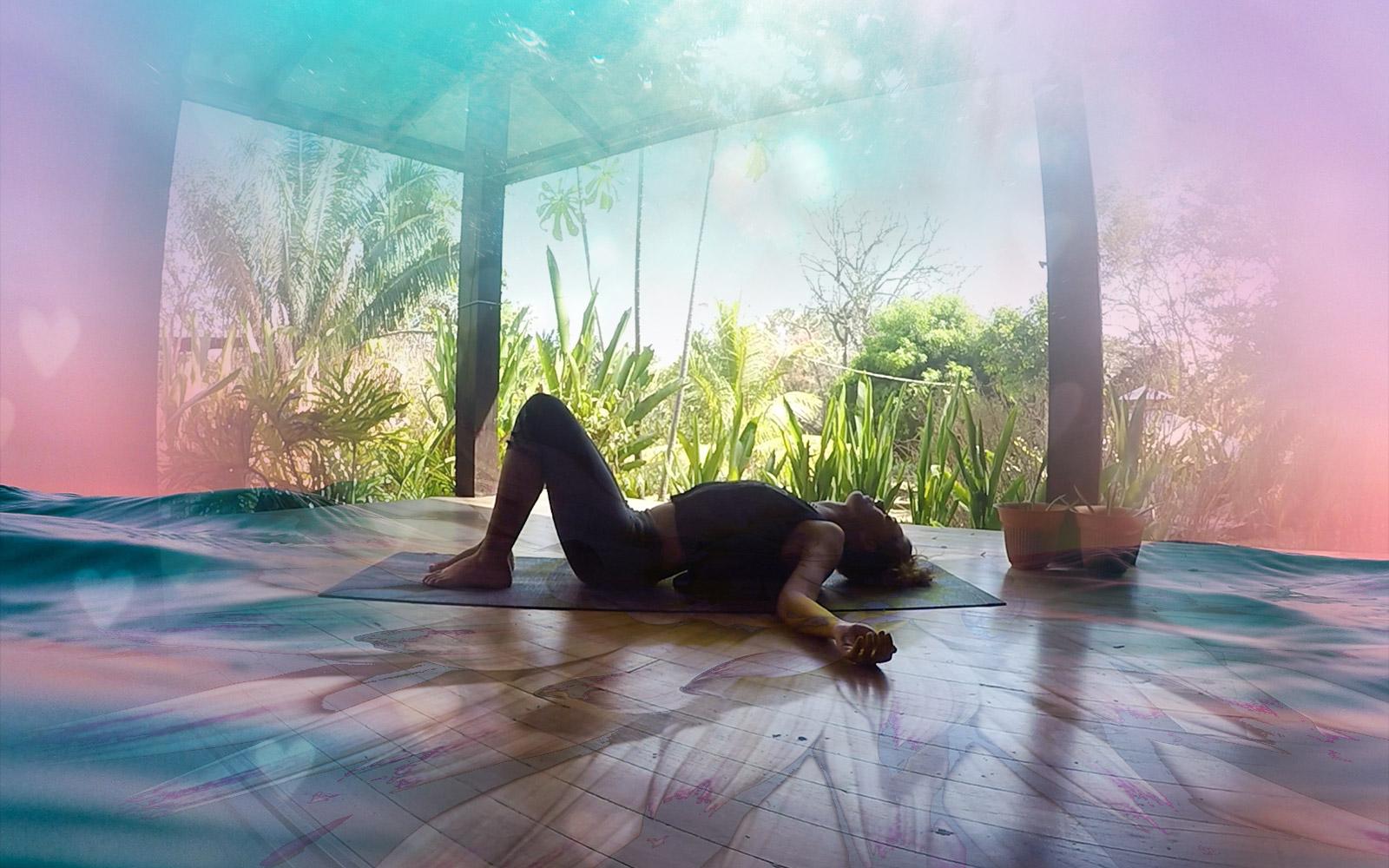 Guided Yin Yoga – Heart Opening Pose + Sound Healing Drum